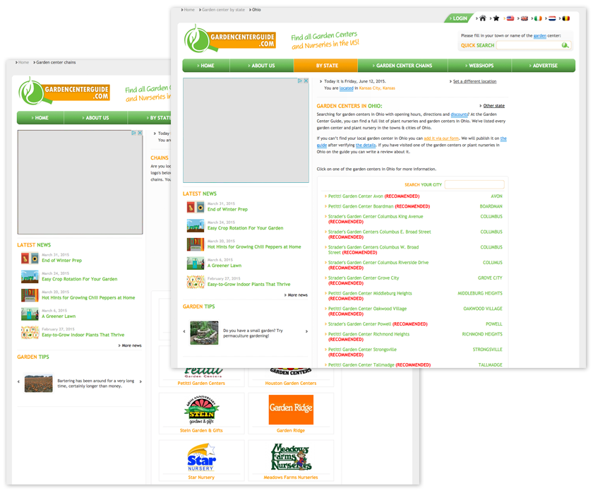 Garden Center Directory