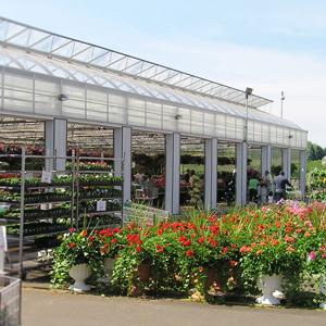 Garden center with open doors