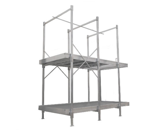 Multi Tiered Aluminum Benches Grow Tables For Commercial