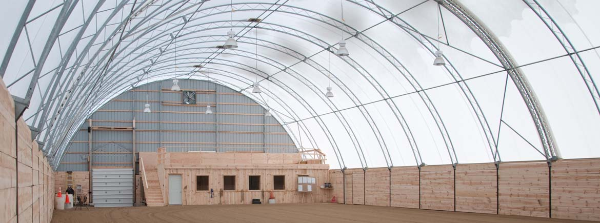 Metal Covered Structures : Fabric covered buildings commercial greenhouse