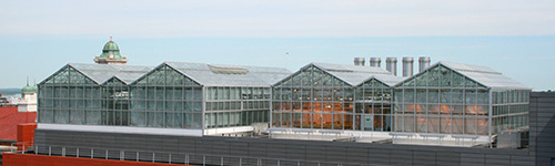 rooftop reasearch greenhouse