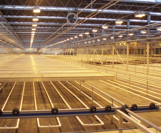 Under Bench Heating Commercial Greenhouse Structures